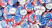 Vote Election Badge Button For 2020 Background, Vote Usa 2020, 3d Illustration, 3d Rendering poster