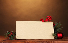 picture of christmas ornament  - blank postcard - JPG