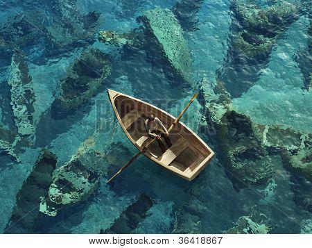 плакат лодки