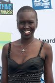 LOS ANGELES - AUG 19:  Alek Wek arrives at the 2012 Do Something Awards at Barker Hanger on August 1