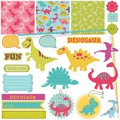 stock photo of dinosaurus  - Scrapbook Design Elements  - JPG