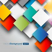 stock photo of color geometric shape  - Colorful Square blank background  - JPG