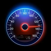 image of mph  - A vector Speedometer illustration design - JPG