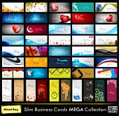 Mega collection of 52 professional and designer business cards or visiting cards on different topic,