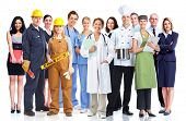 stock photo of manufacturing  - Group of industrial workers - JPG