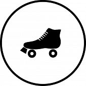 stock photo of roller-derby  - roller skate symbol - JPG