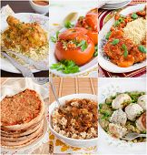 stock photo of meatball  - Collage of Middle Eastern food - JPG
