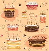 Retro vintage happy birthday pattern