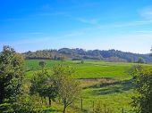 foto of bute  - Landscape panorama view of Piedmont hills in Northern Italy