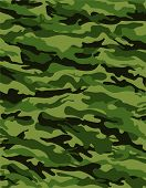 stock photo of camo  - Green camouflage pattern  - JPG