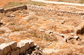 stock photo of jericho  - The Euthymius Monastery ruins - JPG