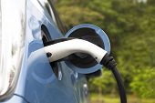 picture of electric socket  - plug in Charging of an electric car - JPG