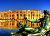 picture of chateau  - Beautiful Gardens of Chateau Versailles near Paris in France - JPG