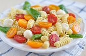image of pasta  - Pasta Caprese with fresh tomatoes - JPG