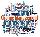 stock photo of change management  - Change Management in word collage - JPG