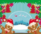 picture of ginger bread  - christmas card with a ginger - JPG