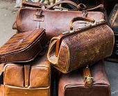picture of flea  - old suitcases at a flea market  fashioned - JPG
