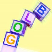 picture of niche  - Blog Word Showing Blogger Internet And Niche - JPG