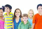 picture of pre-adolescent child  - Group of Children - JPG