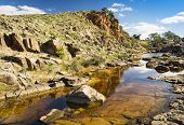 stock photo of oasis  - A beautiful oasis in rural outback Australia - JPG