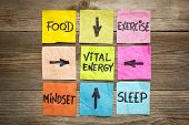 image of sleeping  - vital energy concept  - JPG