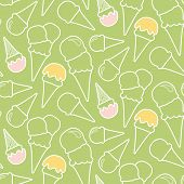 foto of eskimos  - Seamless summer ice cream pattern  - JPG