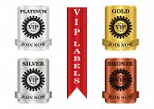 picture of bronze silver gold platinum  - VIP membership labels that can be used for membership plan deals or promotion - JPG