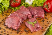 stock photo of beef shank  - Delicious organic beef grazing in the countryside have - JPG