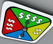 pic of spinner  - Dollar Signs spinner board game winning move lottery - JPG