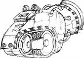 picture of armored car  - Armored Car Vehicle Sketch Vector Illustration Art - JPG