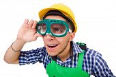 image of industrial safety  - Industrial worker isolated on the white background - JPG