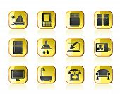 picture of motel  - Hotel and motel room facilities icons  - JPG