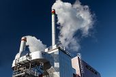 pic of chimney  - External view of the modern biomass co - JPG