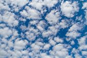 stock photo of stratus  - Blue sky with white clouds - JPG