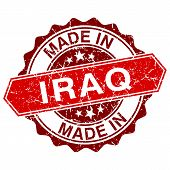 stock photo of iraq  - made in Iraq red stamp isolated on white background - JPG