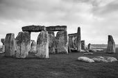 stock photo of stonehenge  - The Stonehenge historic monument in England - JPG
