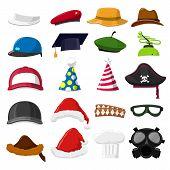 foto of mongol  - Funny Cartoon Hat set  - JPG