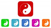 picture of ying-yang  - ying yang vector icon set - JPG
