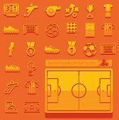pic of offside  - Set of football flat icons for Web and Mobile Applications - JPG