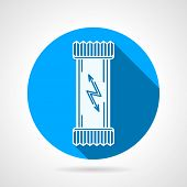picture of carbohydrate  - Flat round blue vector icon with white silhouette for protein bar - JPG