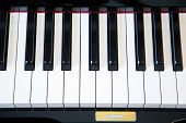 stock photo of key  - piano keys close up - JPG