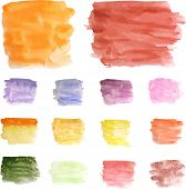 stock photo of ombre  - Watercolor abstract hand painted background - JPG