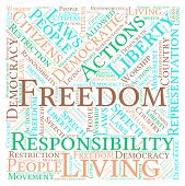 stock photo of freedom speech  - Freedom word cloud on a white background - JPG