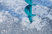image of ice fishing  - Close - JPG
