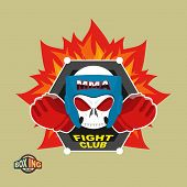 pic of boxing  - Sports shield emblem - JPG