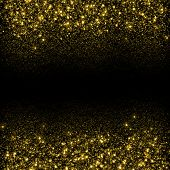 foto of starry  - Gold sparkle glitter background - JPG