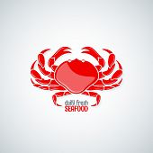 pic of crab  - crab seafood delicacy menu background 10 eps - JPG