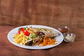 Постер, плакат: Eastern food Arab food Shawarma