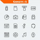 picture of usb flash drive  - Computer accessories and gadgets icon set - JPG