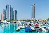 stock photo of marina  - Al Bateen marina in Abu Dhabi in the UAE - JPG
